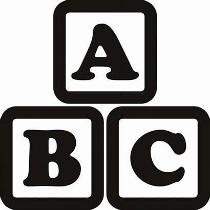 Blocks Clipart Alphabet Outline Abc Graphic Escape