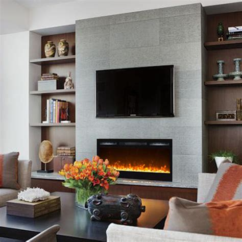 in wall electric fireplace regal 35 inch built in ventless heater