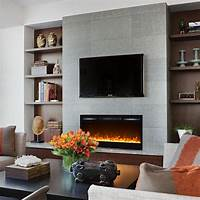 built in electric fireplace Regal Flame Lexington 35 Inch Built-in Ventless Heater Recessed Wall Mounted Electric Fireplace ...
