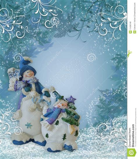 snowman background christmas border royalty  stock