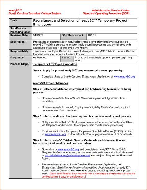 Sop Template 14 Standard Operating Procedures Templates