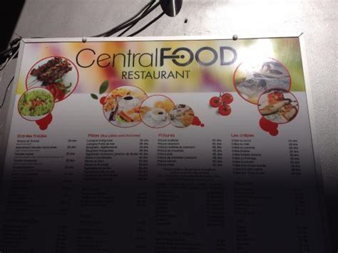 il central cuisine il menu central food picture of central food