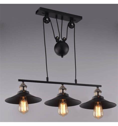 Lampe Industrielle Suspensionnoir 3 Abatjours E27 Piattino