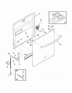 Door Diagram  U0026 Parts List For Model Pld4375rfc3 Frigidaire