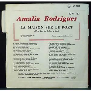 Amalia Rodrigues La Maison Sur Le Port  amalia rodrigues la