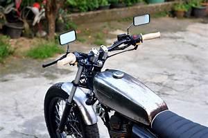 Gas Tank Honda Gl Iii    Megapro 2005  U0026quot Silver Cash U0026quot  Custom