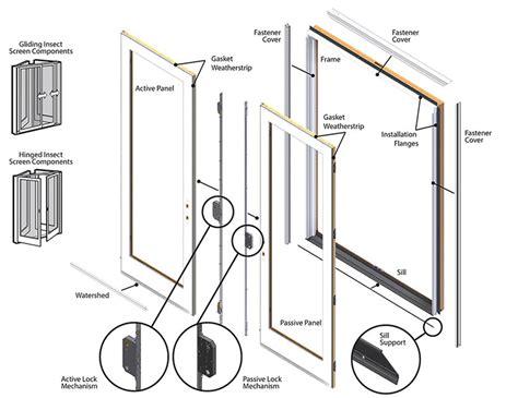 andersen patio door replacement parts andersen frenchwood hinged patio door replacement parts