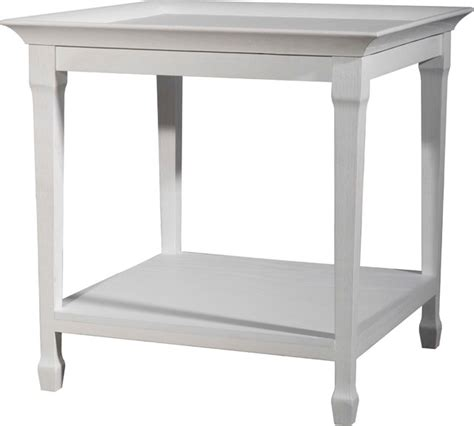 white tray side table beach style nightstands