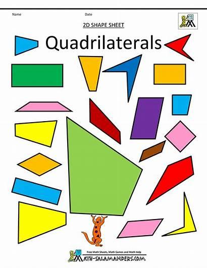 Clipart Shapes Quadrilaterals Math Clip 2d Shape