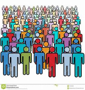 For The People : big crowd of many colors social people group stock vector illustration of group populace ~ Eleganceandgraceweddings.com Haus und Dekorationen