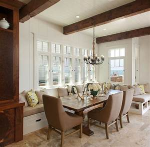Furniture kitchens and baths banquette built in a for Dining room bench seating ideas