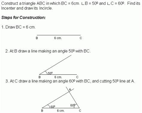 construction 4 incircle middle high school algebra