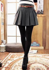 This is an example of how to wear skirts in the Winter. Plain black leggings allow you to wear ...