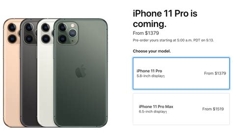 iphone 11 pro pricing in canada starts at 1 379 iphone in canada blog
