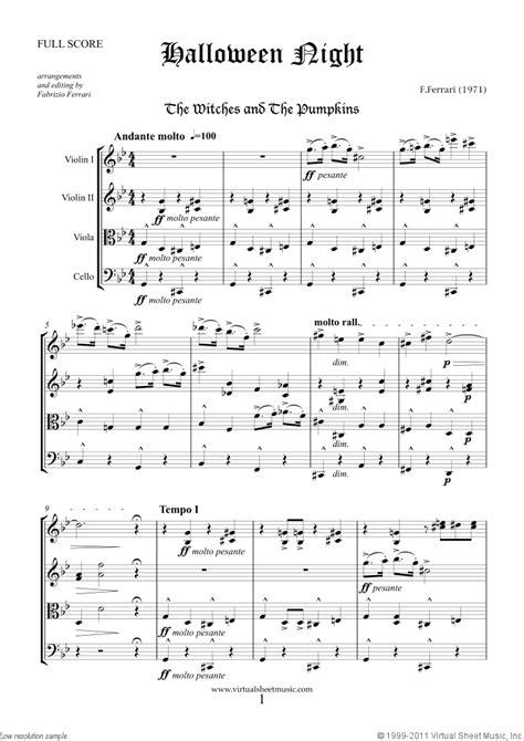 halloween sheet   string quartet