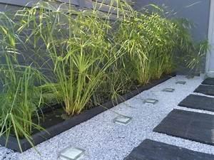 Cailloux Pour Cour : am nagement all e de jardin ammenagement terrasse djunails ~ Premium-room.com Idées de Décoration