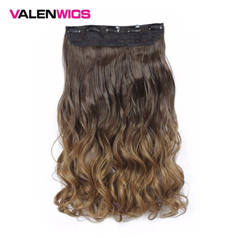 Valenwigs Long Wavy One Clip In On Hair Extensions Ombre
