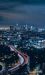 Los Angeles, city, skyscrapers, night, 720x1280 wallpaper ...