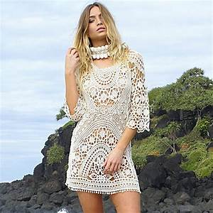 Robe De Plage 2017 : 2017 beach cover up floral embroidery bikini swimsuit cover up robe de plage beach dress ~ Preciouscoupons.com Idées de Décoration
