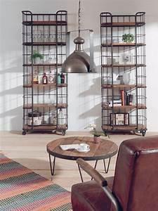 Etagere Style Industrielle : meuble pas cher salon canap fauteuil biblioth que c t maison ~ Teatrodelosmanantiales.com Idées de Décoration