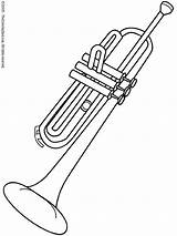 Coloring Pages Instruments Musical Instrument Music Trumpet Clarinet Preschool sketch template