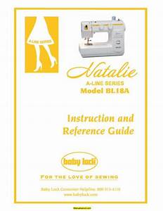 Baby Lock Bl18a Sewing Machine Instruction Manual
