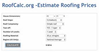 Tin Roof Cost Estimate by Roofing Calculator Estimate Roof Replacement Cost Get