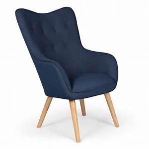 Fauteuil Bleu Scandinave : menzzo fauteuil scandinave klarys tissu bleu sebpeche31 ~ Teatrodelosmanantiales.com Idées de Décoration