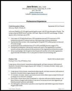 Executive Resume Best Practices by Executive Resume Templates For 2018 Kirby Partners
