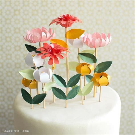 diy flower cake toppers floral cake floral and cake
