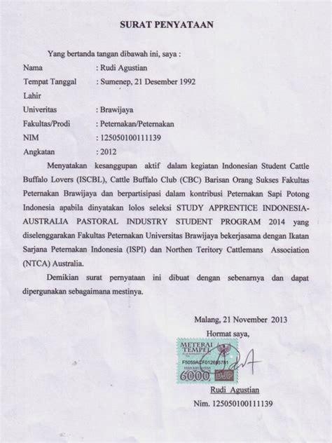 Contoh Surat Izin Sekolah Atas Nama Sendiri by 13 Contoh Surat Pernyataan Kerja Kesanggupan Perjanjian