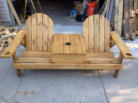 build  double chair bench  table diy projects