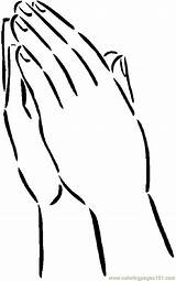 Hands Coloring Praying Pages Printable Hand Clipart Template Sheets Children Clipground Finger Washing Wash 41kb 850px Coloringpages101 Getcoloringpages Helping Pdf sketch template