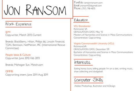 About Me Resume by About Me Resume Jon Ransom Copwriter