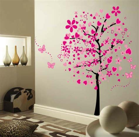 gardinen wohnzimmer wandaufkleber selbst gestalten 30 originelle vorschläge