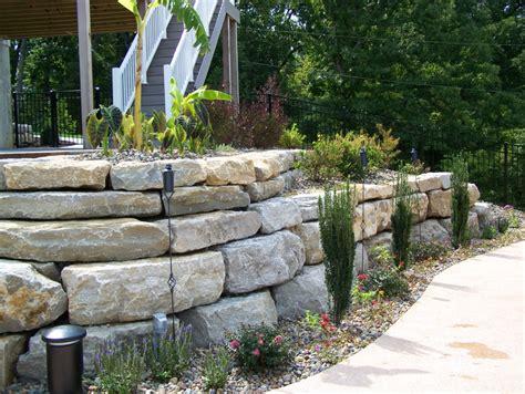 boulder retaining walls landscaping st louis landscape