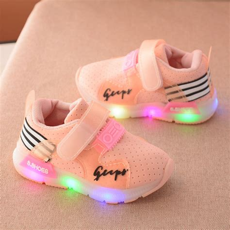 light up shoes for baby toddler boy sports shoes solid color casual