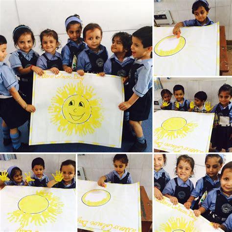 yellow day celebration in preschool kindergarten 143