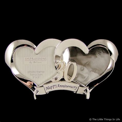 heart silver plated  wedding anniversary photo frame