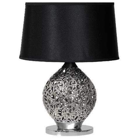 Lampe De Chevet Design Arabesques Céramique Noir