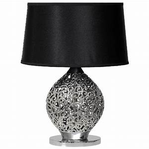 Lampe De Chevet Dorée : lampe de chevet design arabesques c ramique noir mw light ~ Dailycaller-alerts.com Idées de Décoration