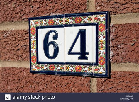 Ceramic House Number Tiles   Tile Design Ideas