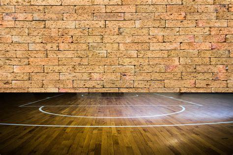 wooden floor basketball court stock photo image