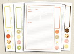 5 best images of printable recipe pages free printable With free recipe templates for binders