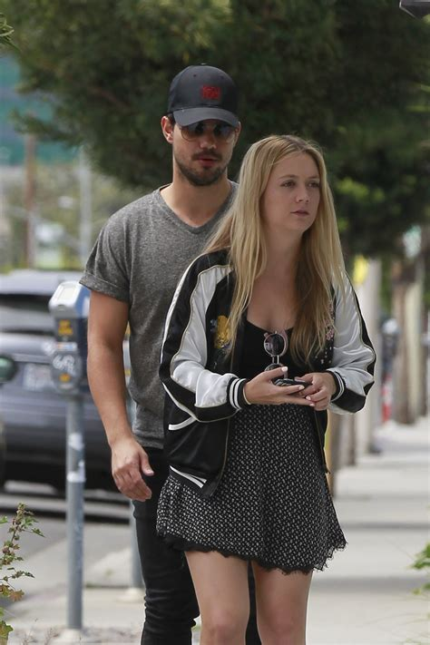 BILLIE LOURD and Taylor Lautner Out Shopping in Los ...