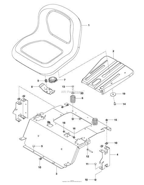 husqvarna rz     parts diagram  seat
