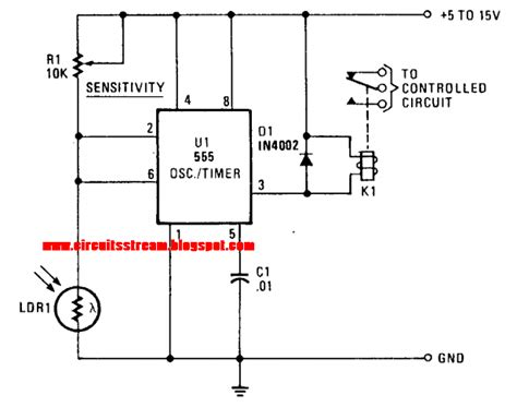 Simple Photo Alarm Circuit Diagram Electronic