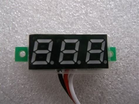 digital voltmeter led 3 digit display connections and