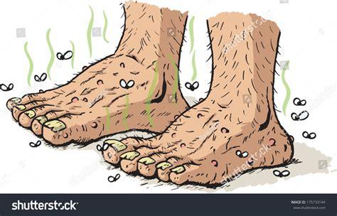 Dirty Old Feet Stock Vector 175733144