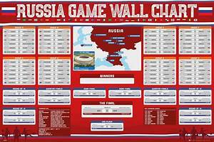 Fifa World Cup 2018 Russia Wall Chart Bracket Poster 24